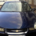 Blue Chrysler neon